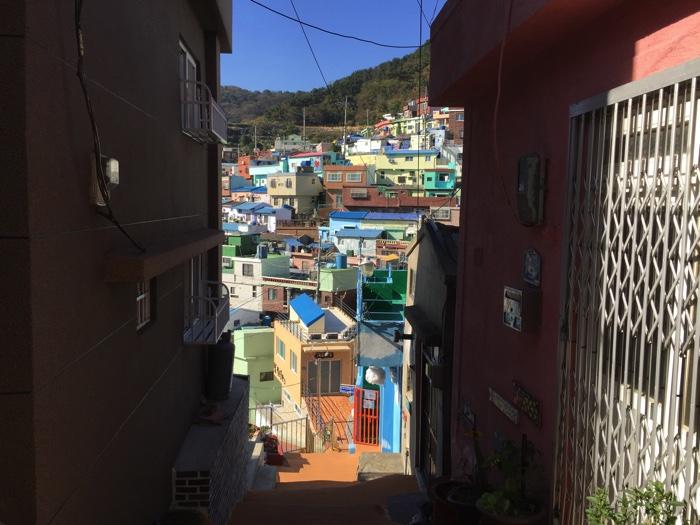 甘川洞文化村の小道